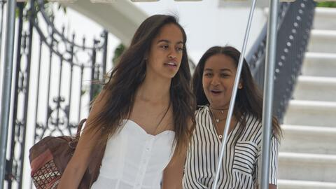 Malia Obama, hija mayor del expresidente Barack Obama.