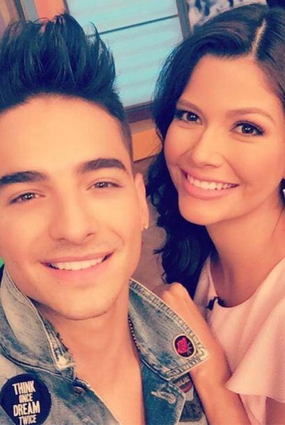 """¡Selfie con Maluma en Despierta América!"", compartió Ana Patricia, (Feb..."