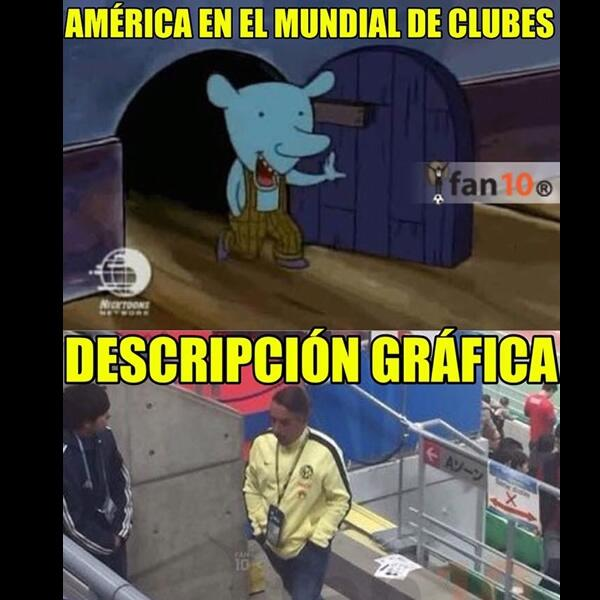 Memes del América en el Mundial de Clubes