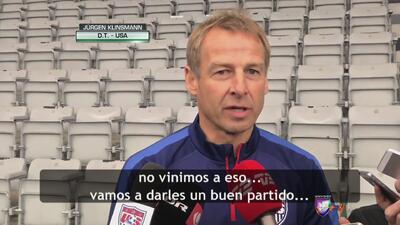 """Jürgen Klinsmann: """"Nuestro equipo ha ido creciendo"""""""