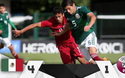 El cuadro mexicano no tuvo contratiempos para derrotar a Catar.