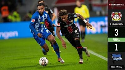 Bayer Leverkusen 3-1 Hertha Berlin - RESUMEN Y GOLES - Bundesliga - Jornada 17