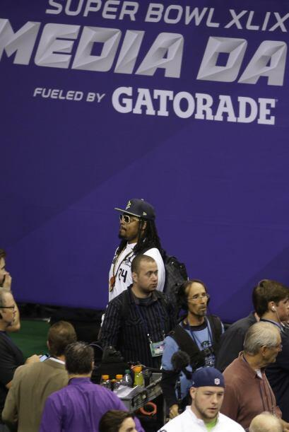 Como en el Super Bowl pasado, el corredor de Seattle, Marshawn Lynch, qu...