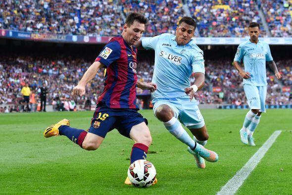 Messi también volvió a tener un buen partido, con dos gole...