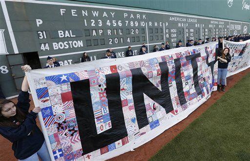 Durante un partido de béisbol entre los Medias Rojas de Boston y...