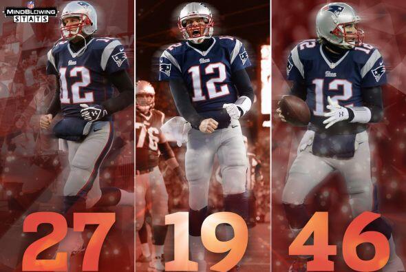 Tom el Terrífico Tom Brady tiene registrados los mejores n&uacute...