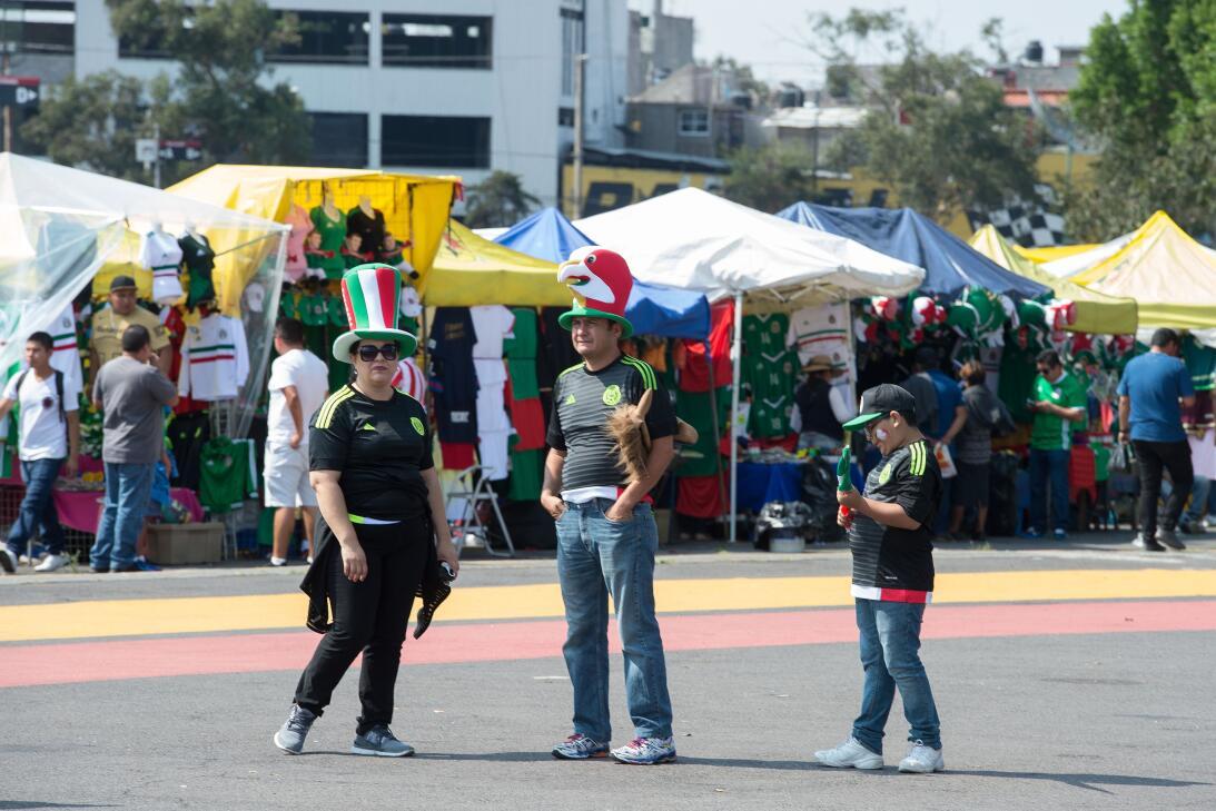 Las banderas, los atuendos típicos y el verde, blanco y rojo se hicieron...