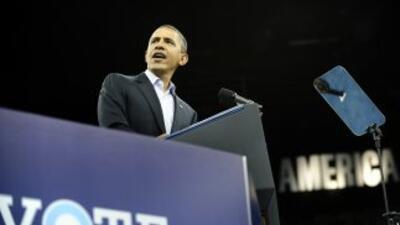 """El presidente de Estados Unidos, Barack Obama, """"twitteó"""" hasta el último..."""