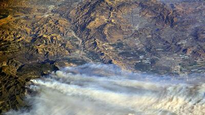 Las fotos de los incendios de California tomadas por un astronauta de la Estación Espacial Internacional