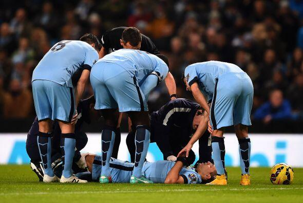 El delantero argentino del Manchester City Sergio Agüero, má...