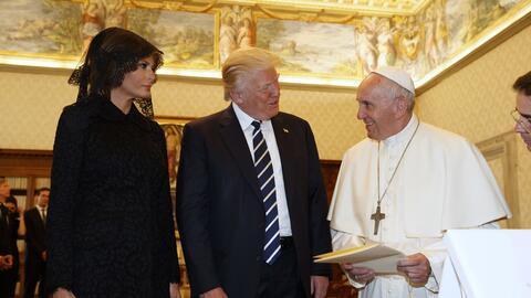 El Papa le obsequió su discurso del Día Internacional de la Paz y la Enc...