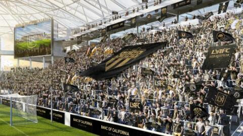 LAFC supporters section