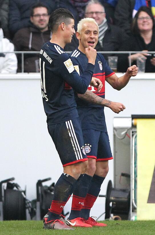 Con golazo de James, Bayern Múnich sigue imparable en la Bundesliga gett...