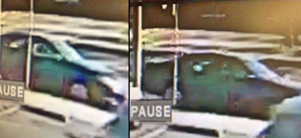 El vehículo en el que viajaba el sospechoso es un sedán de cuatro puerta...