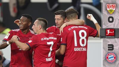 Con tantos de Goretzka, Lewandowski y Müller, Bayern de Múnich golea al Stuttgart