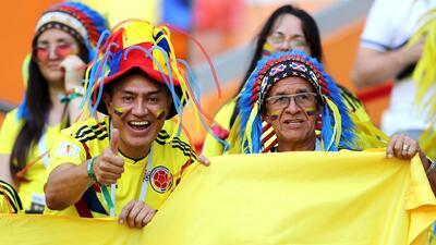 Hinchas colombianos no pierden la esperanza en Rusia