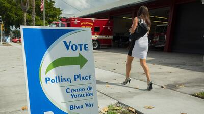 Puesto de votación de Miami en las primarias del 15 de marzo de 2016