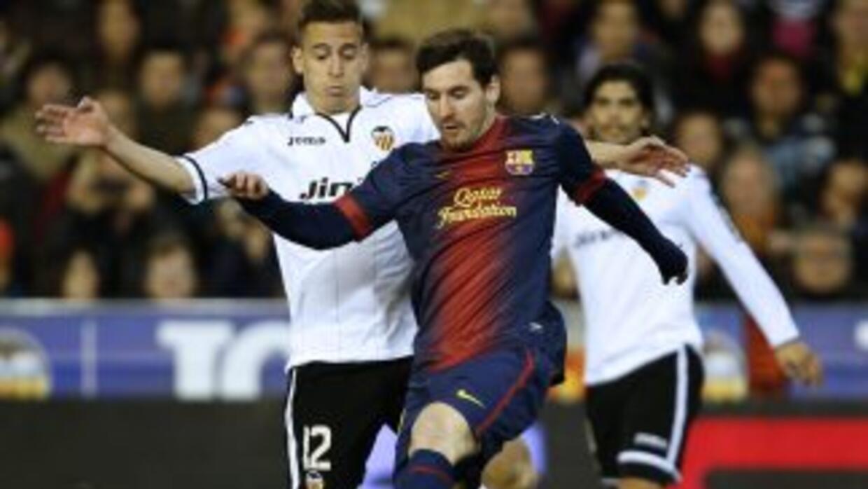 Un gol de Messi, de penalti, le significó al Barcelona el punto que sacó...