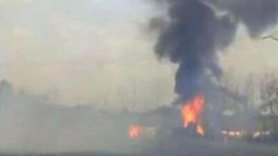 Imagen de la explosión en el estado de Veracruz. (Twitter: Noticieros Te...