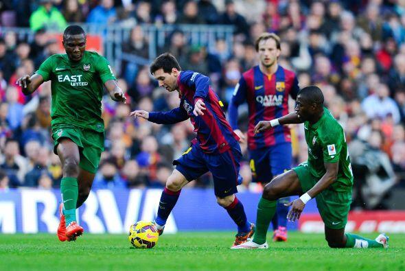 Lionel Messi salió inspirado a la cancha, pues el argentino festejaba su...