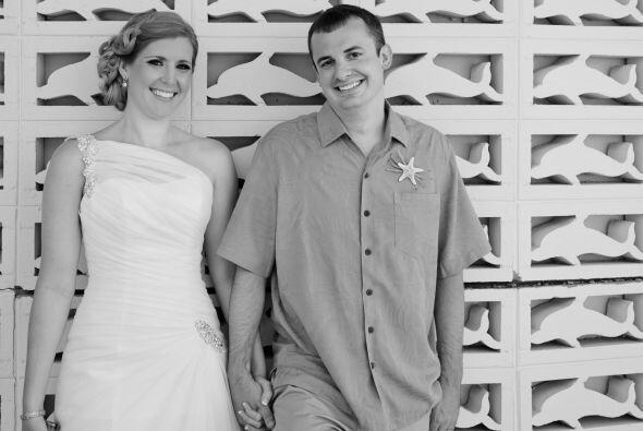 La romántica boda de esta pareja tenía un estilo náutico, pero nunca se...