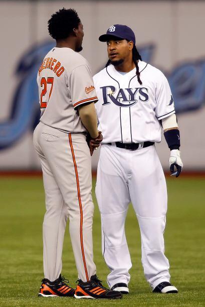 Los dominicanos Manny Ramírez y Vladimir Guerrero son grandes ami...