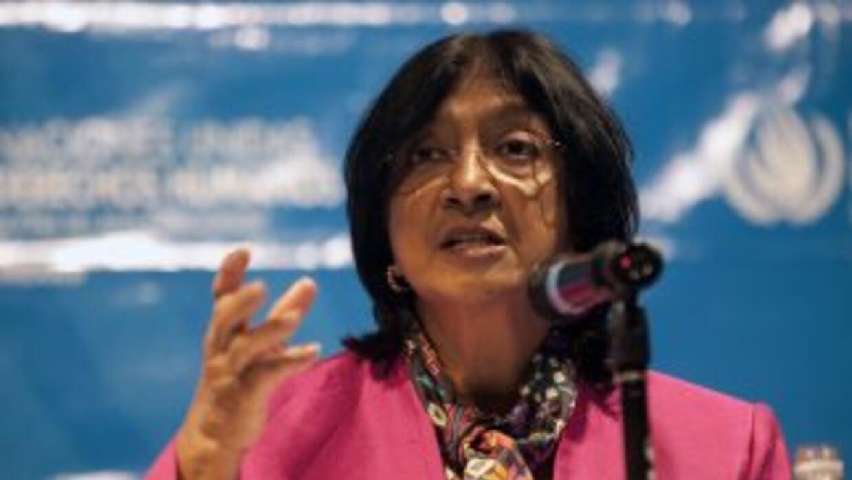 La Alta Comisionada de Naciones Unidas para los Derechos Humanos, Navy P...