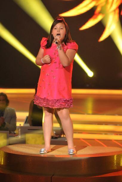 Dania demostró que puede ser una gran cantante.