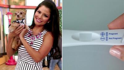 Ana Patricia mostró la prueba de embarazo