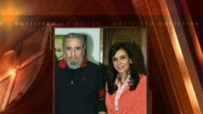Fidel Castro y Cristina Fernández
