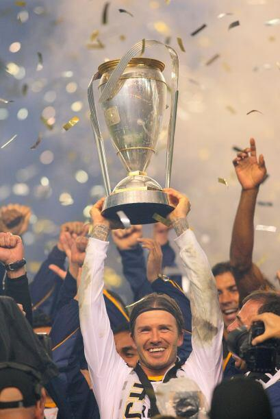 El el 2011 David Beckham ayudó al Galaxy a ganar el segundo 'Supporters...