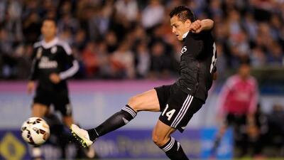 El delantero mexicano marcó un doblete en el triundo del Real MAdrid sor...