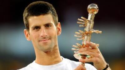 Dos sets le bastaron al serbio Djokovic para imponerse en la superficie...