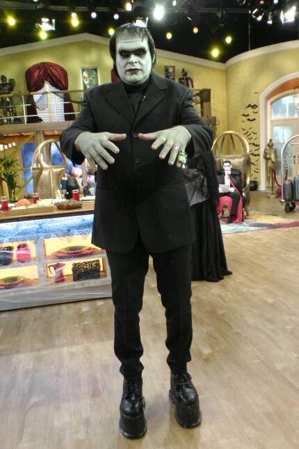 Con su disfraz de Frankenstein, Alan Tacher estaba para dar miedo.