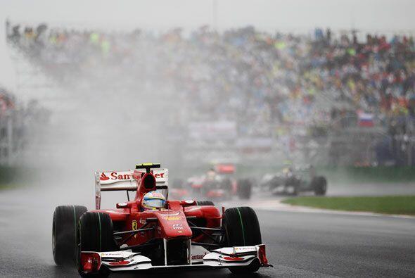 El piloto de la Ferrari condujo sin mayores problemas las últimas 10 vue...