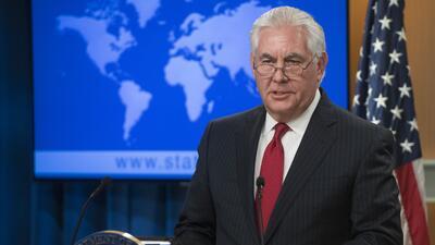 Tillerson dijo que seguirá en el cargo hasta el 31 de marzo para luego r...