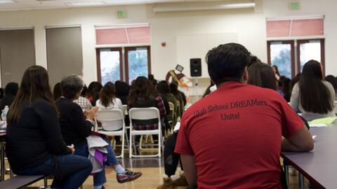 Undocumented 'Dreamers' from across California come together to...