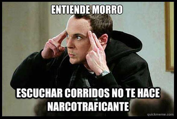 #UnOdioEternoA...Que la raza que escucha corridos se crean narcos.