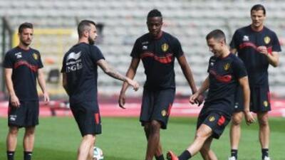 Lukaku entrenó al parejo de sus compañeros y parece estar en forma para...