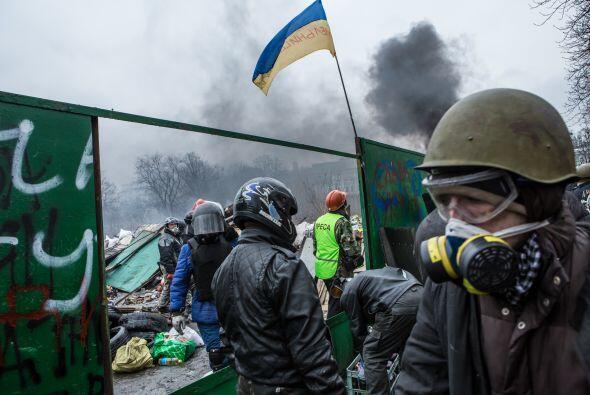 El 16 de febrero activistas de oposición pusieron fin a su ocupac...