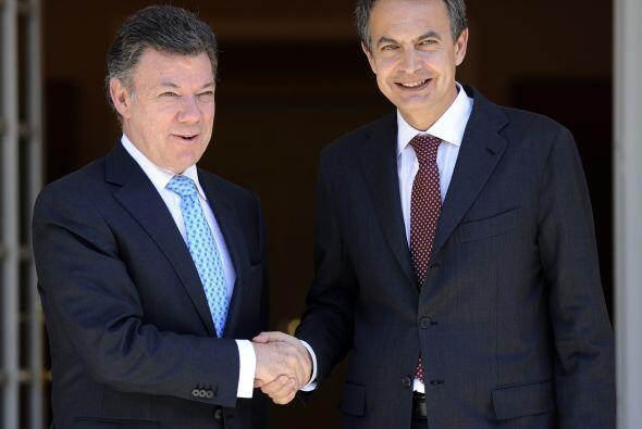 El presidente de Colombia, Juan Manuel Santos realizó su primera visita...