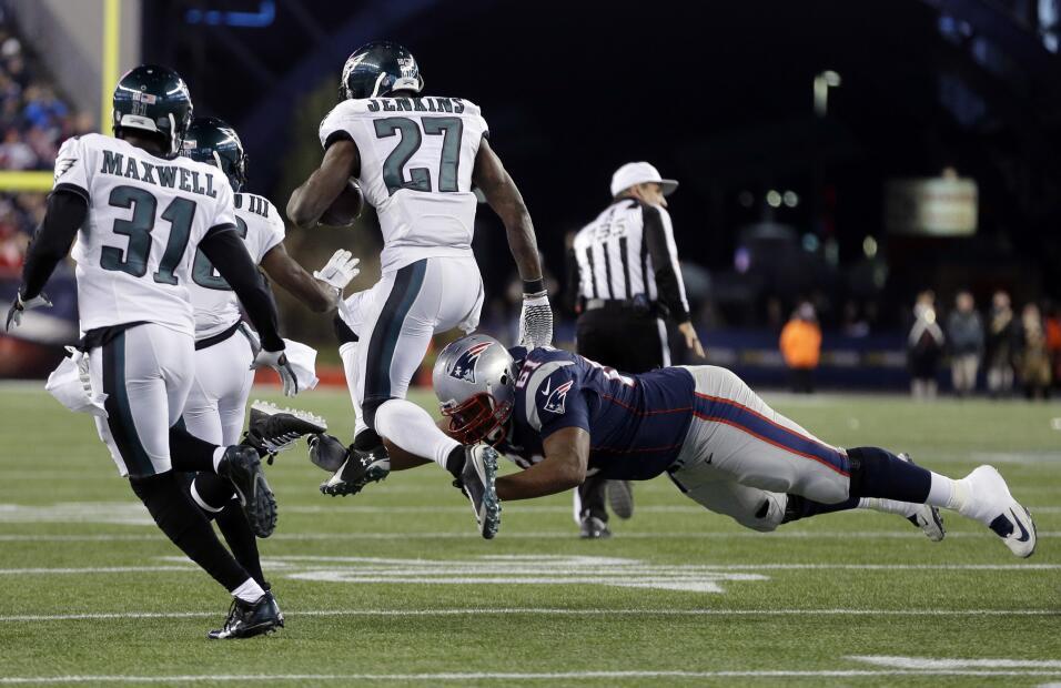 Los Philadelphia Eagles vencieron 35 - 28 a los New England Patriots que...