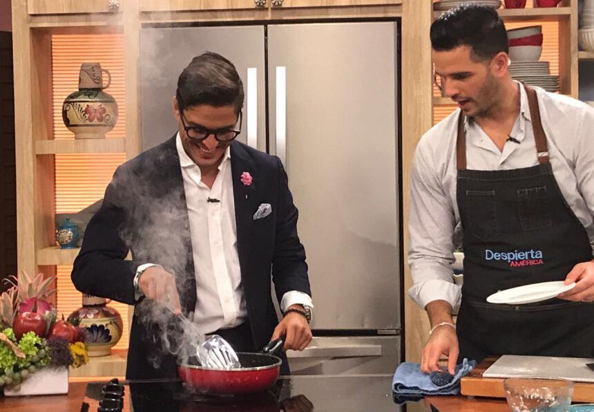 Rodolfo Landeros y el Chef Jesús