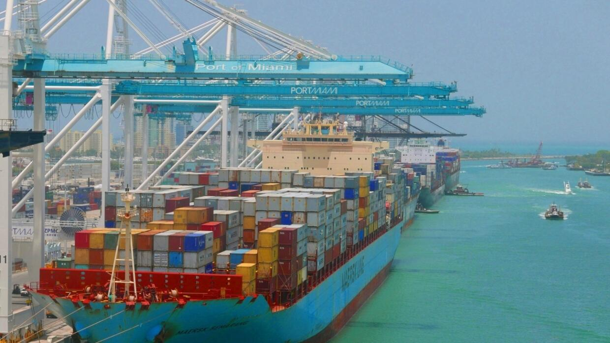 """The port of Miami was dredged to accommodate larger """"Neo-Panamax"""" ships..."""