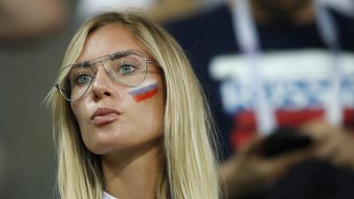 Las fanáticas rusas fueron protagonistas en la previa del juego ante Croacia