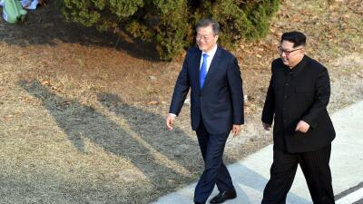 Líderes de las dos Coreas se reúnen nuevamente para tratar de rescatar la cumbre entre Trump y Kim Jong Un