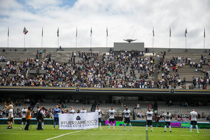 Estadio Olímpico Universitario: 14,343 espectadores.