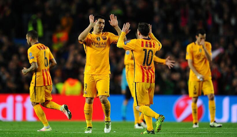 Los rostros de la derrota del Barcelona fuera de la Champions GettyImage...