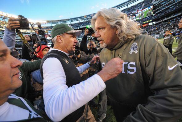 El entrenador Rex Ryan superó a su hermano Rob en el encuentro que los J...