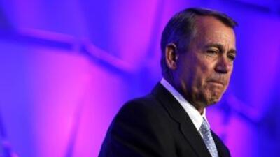 El presidente del Congreso, John Boehner (republicano de Ohio) tiene en...